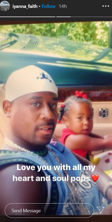 Martin Lawrence and his daughter Iyanna Lawrence sit in the side by side in a convertible car| Source: Instagram.com/iyanna_faith