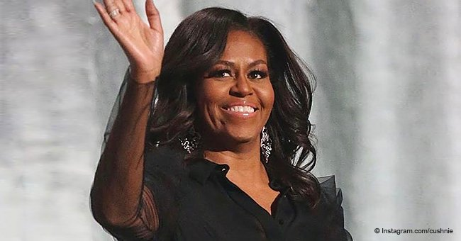 Michelle Obama Slays the Day, Flaunting Toned Arms in Sheer Top by a Black Designer