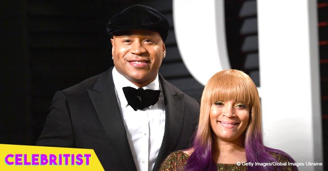 LL Cool J and wife rock identical outfits in picture celebrating their 23rd wedding anniversary