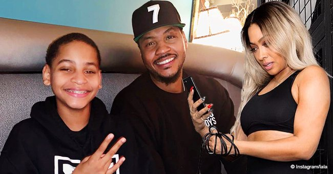 La La Anthony melts hearts with photo of Carmelo & their growing son Kiyan amid pregnancy rumors
