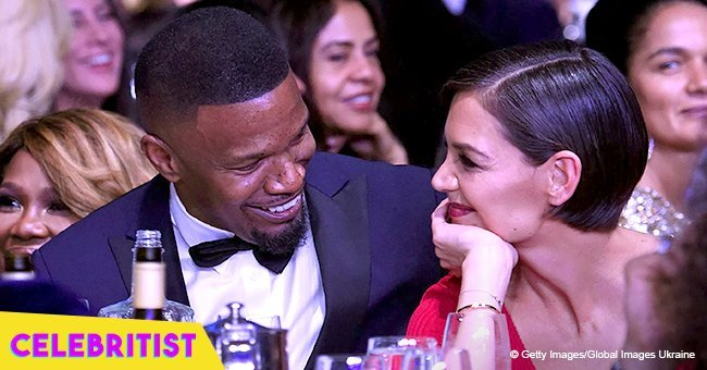 Jamie Foxx and Katie Holmes spotted holding hands and sharing kisses on beach date