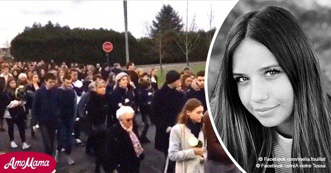 Une marche blanche pour Tessa, 17 ans : des centaines de personnes réunies pour rendre hommage à la jeune fille innocemment tuée