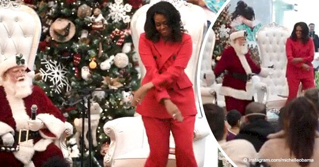 Michelle Obama steals the show, showing off epic dance moves with Santa Claus in new video