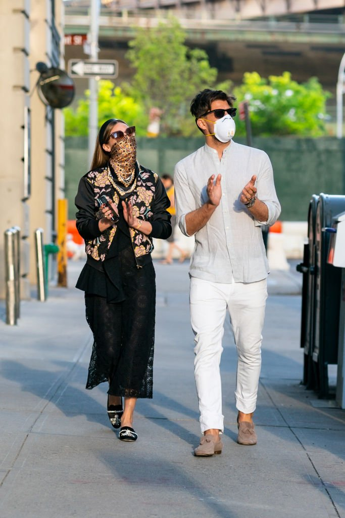 Olivia Palermo et Johannes Huebl à New York le 16 mai 2020. l Source : Getty Images