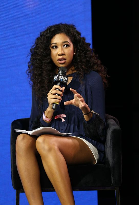 Aoki Lee Simmons speaks at an AT&T Revolt Summit | Source: Getty Images