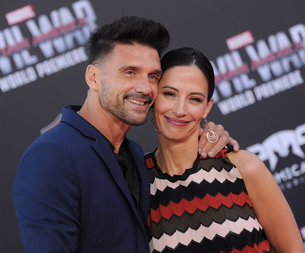 """Frank Grillo and Wendy Moniz Grillo arrive at the premiere of Marvel's """"Captain America: Civil War"""" on April 12, 2016. 
