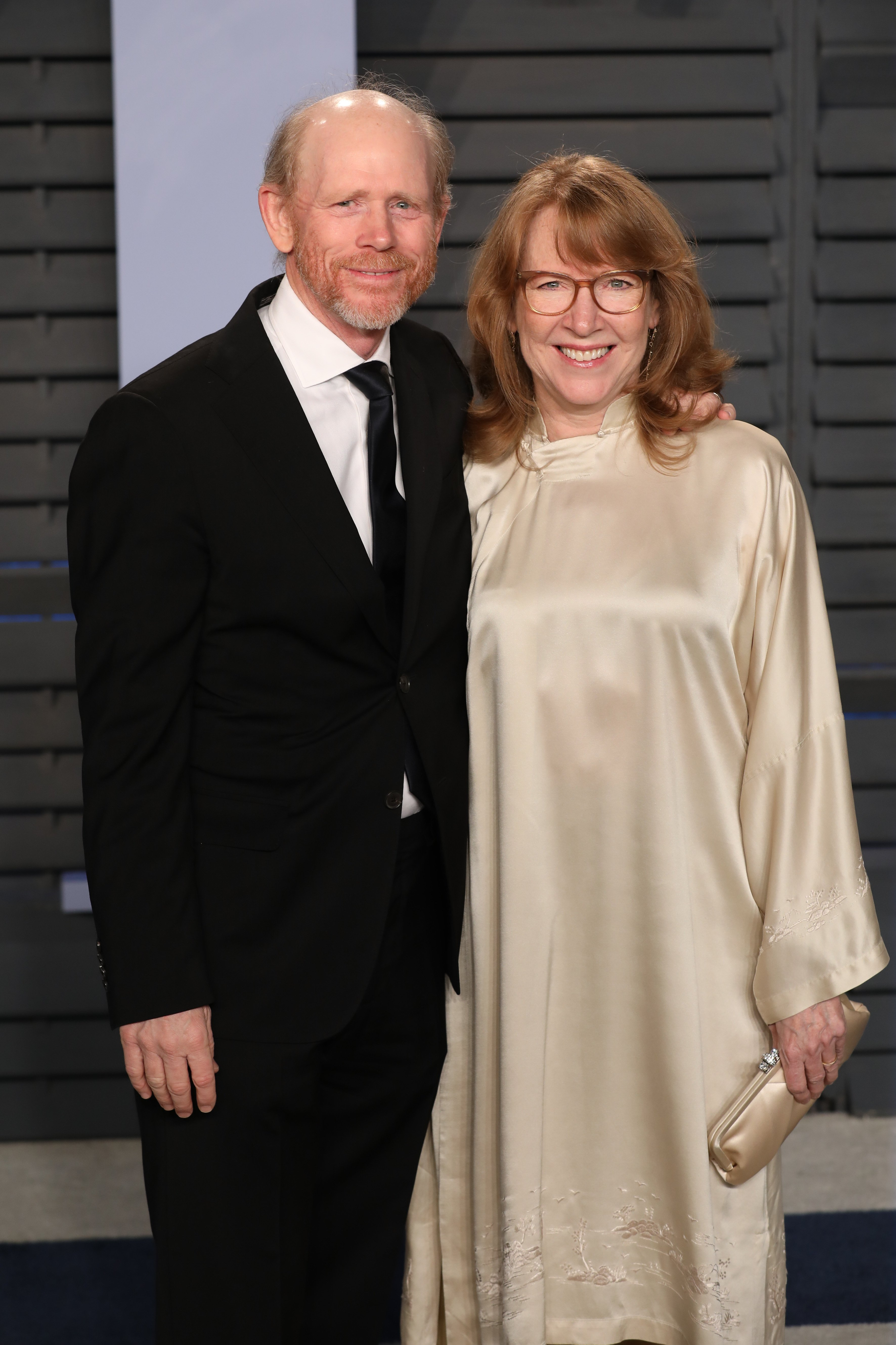 Ron Howard and Cheryl Howard attend the 2018 Vanity Fair Oscar Party on March 04, 2018, in Beverly Hills, California.   Source: Getty Images.