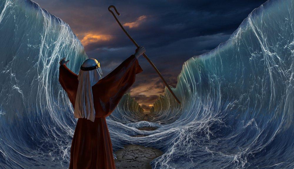 Ruta del Éxodo de Moisés cruzando el mar rojo.| Fuente: Shutterstock