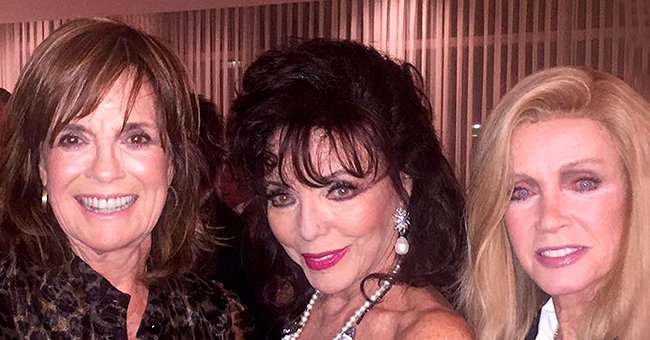 Joan Collins Joins Fellow Soap Opera Icons Donna Mills and Linda Gray at Annual Christmas Party