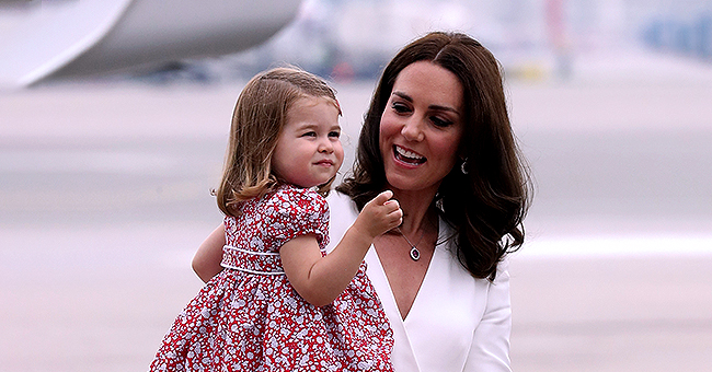 Princess Charlotte Was Shy & Sweet on First Day of School Hiding behind Mom Kate Middleton