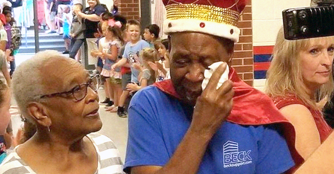 Janitor, 83, Moved to Tears After Students Make Him 'King' in Surprise Retirement Party