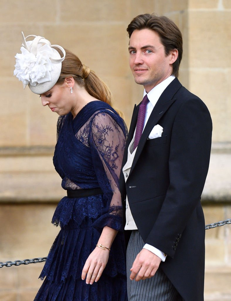 Princess Beatrice and Edoardo Mapelli Mozzi attend the wedding of Lady Gabriella Windsor and Thomas Kingston at St George's Chapel. | Source: Getty Images