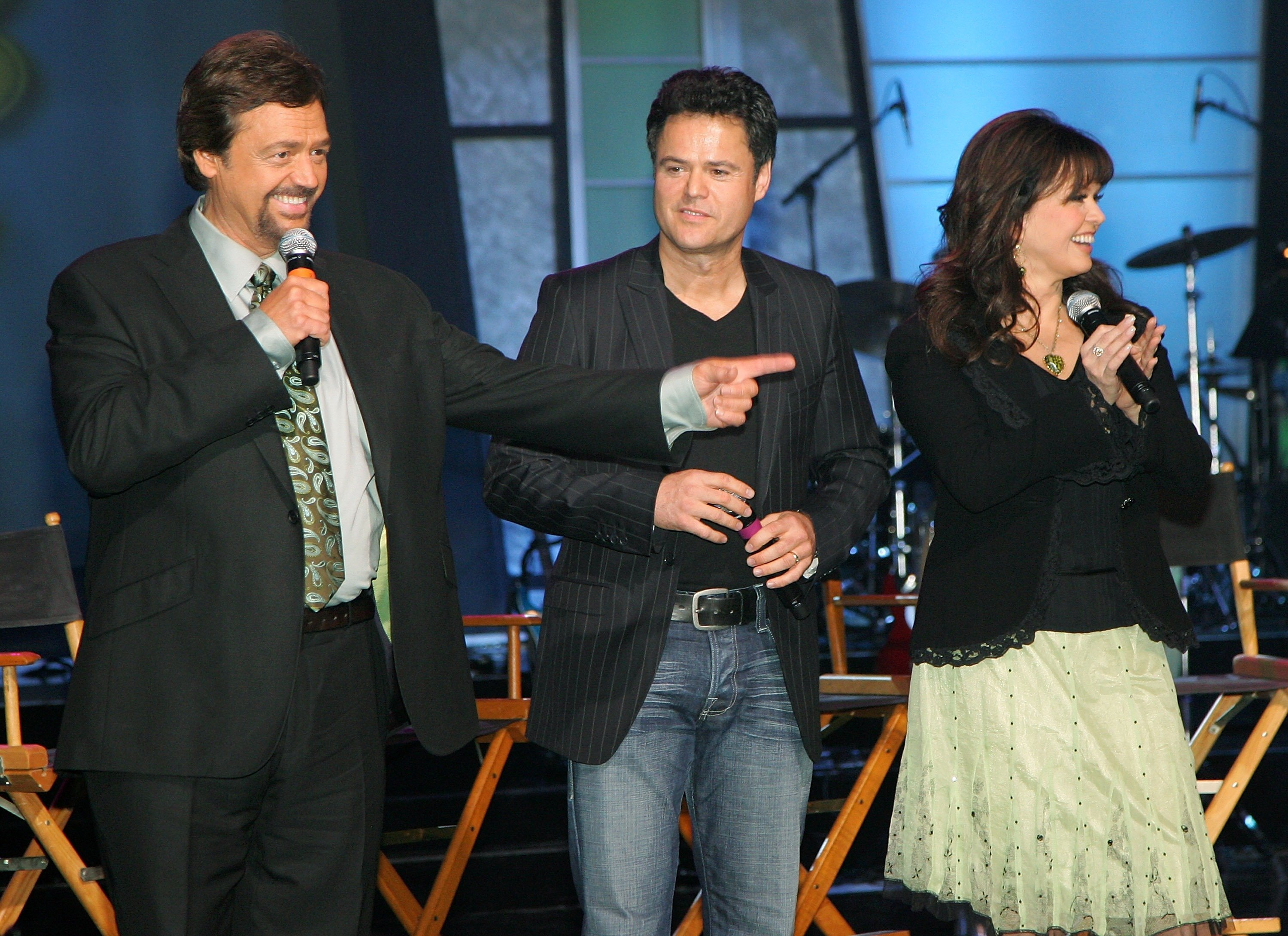 Jay Osmond, Donny Osmond and Marie Osmond speak during a meet and greet with fans at the Orleans Hotel & Casino August 13, 2007, in Las Vegas, Nevada. | Source: Getty Images.