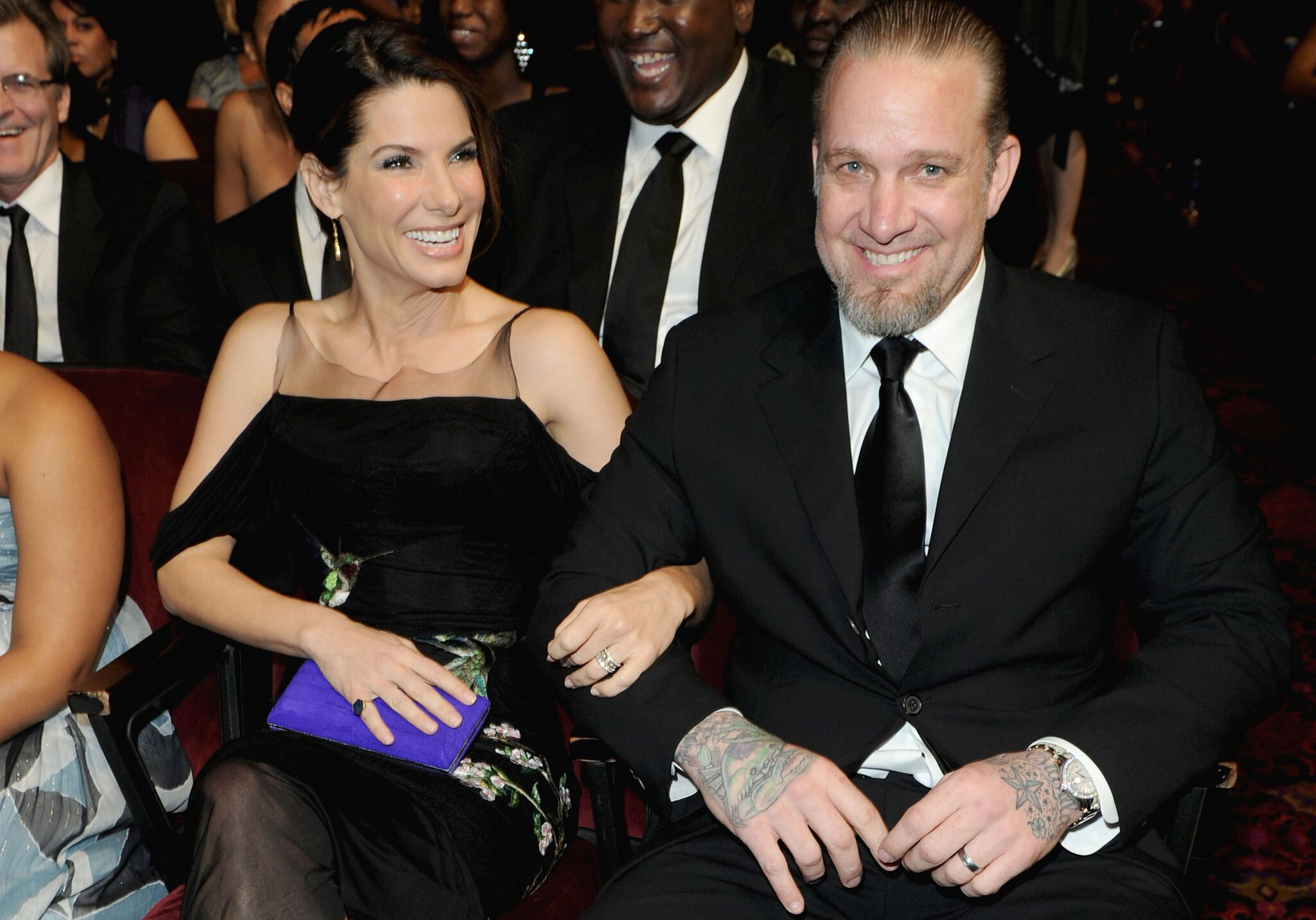 Sandra Bullock and husband Jesse James at the 41st NAACP Image awards | Getty Images