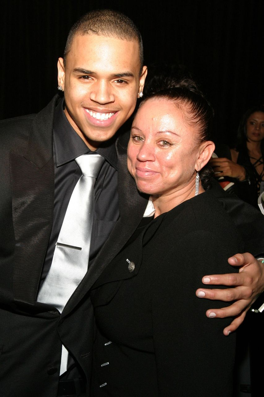 Chris Brown and Joyce Hawkins at the 37th Annual NAACP Image Awards. | Source: Getty Images