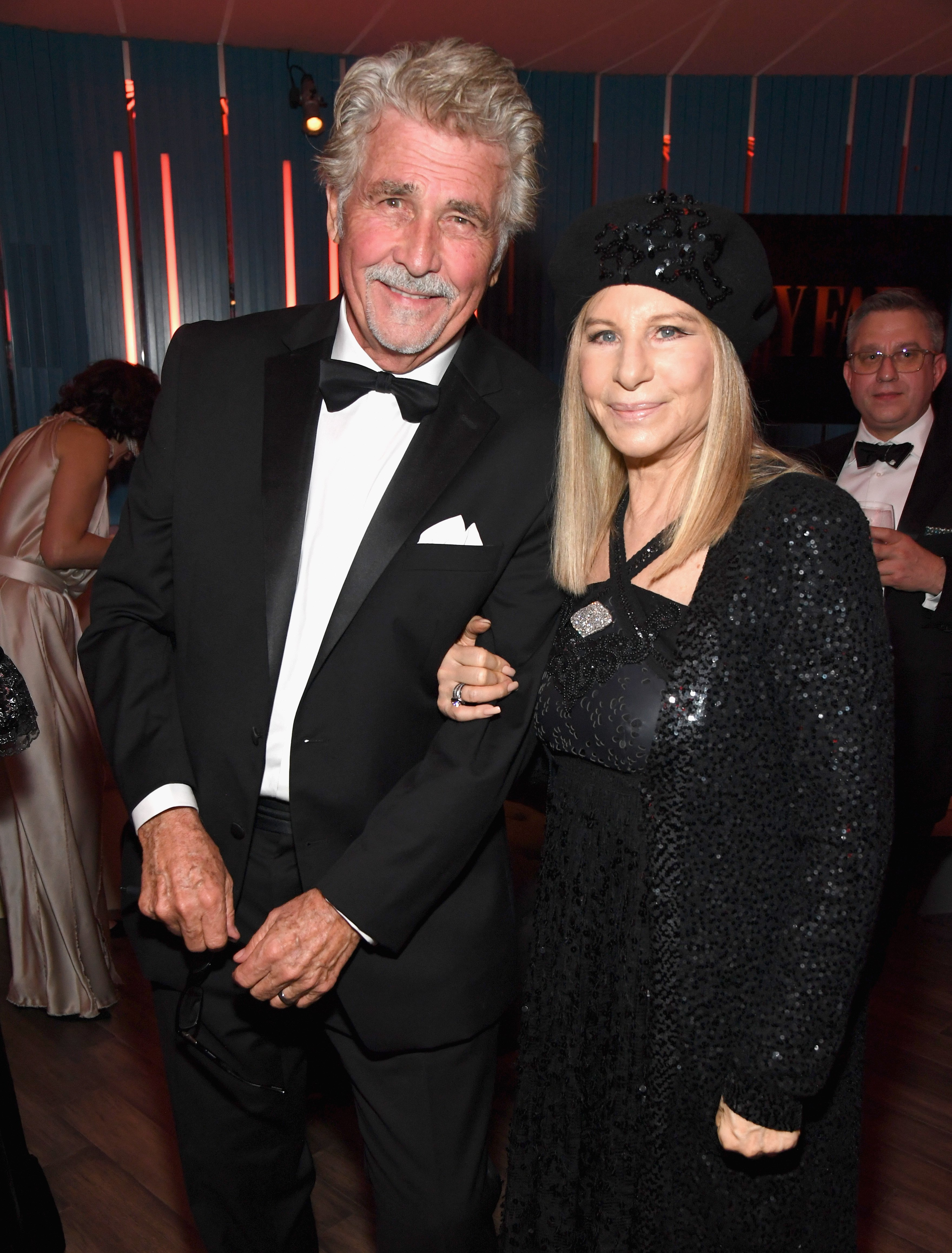 James Brolin and Barbra Streisand attend the 2019 Vanity Fair Oscar Party hosted by Radhika Jones on February 24, 2019, in Beverly Hills, California.   Source: Getty Images.