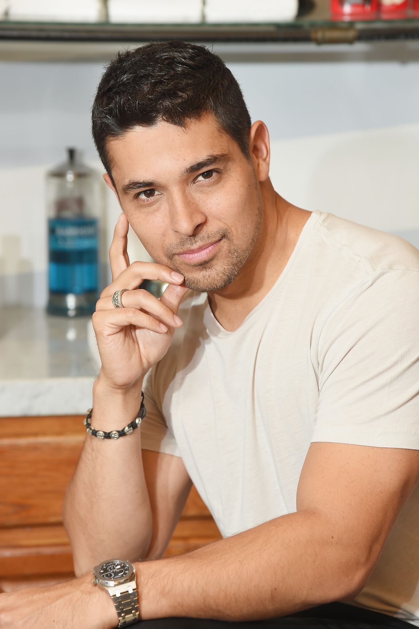 Wilmer Valderrama teams up with Old Spice to right hair wrongs at Sharps Barber and Shop | Getty Images