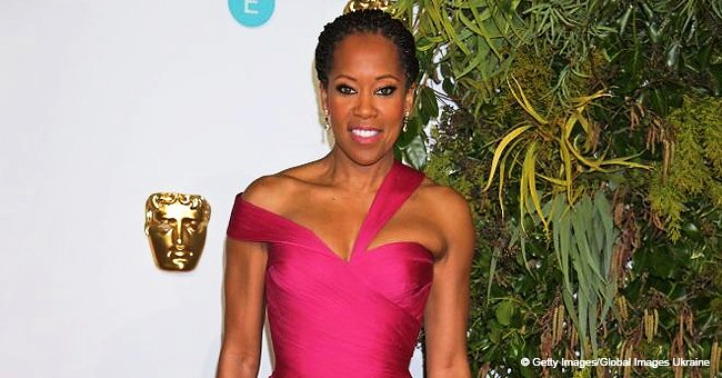 Regina King flaunts enviable legs in asymmetric pink gown with thigh-high split at the 2019 BAFTAs