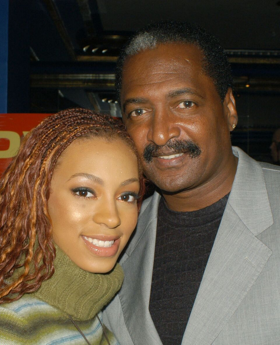 Solange Knowles and her father, Matthew Knowles at the Supper Club. | Source: Getty Images