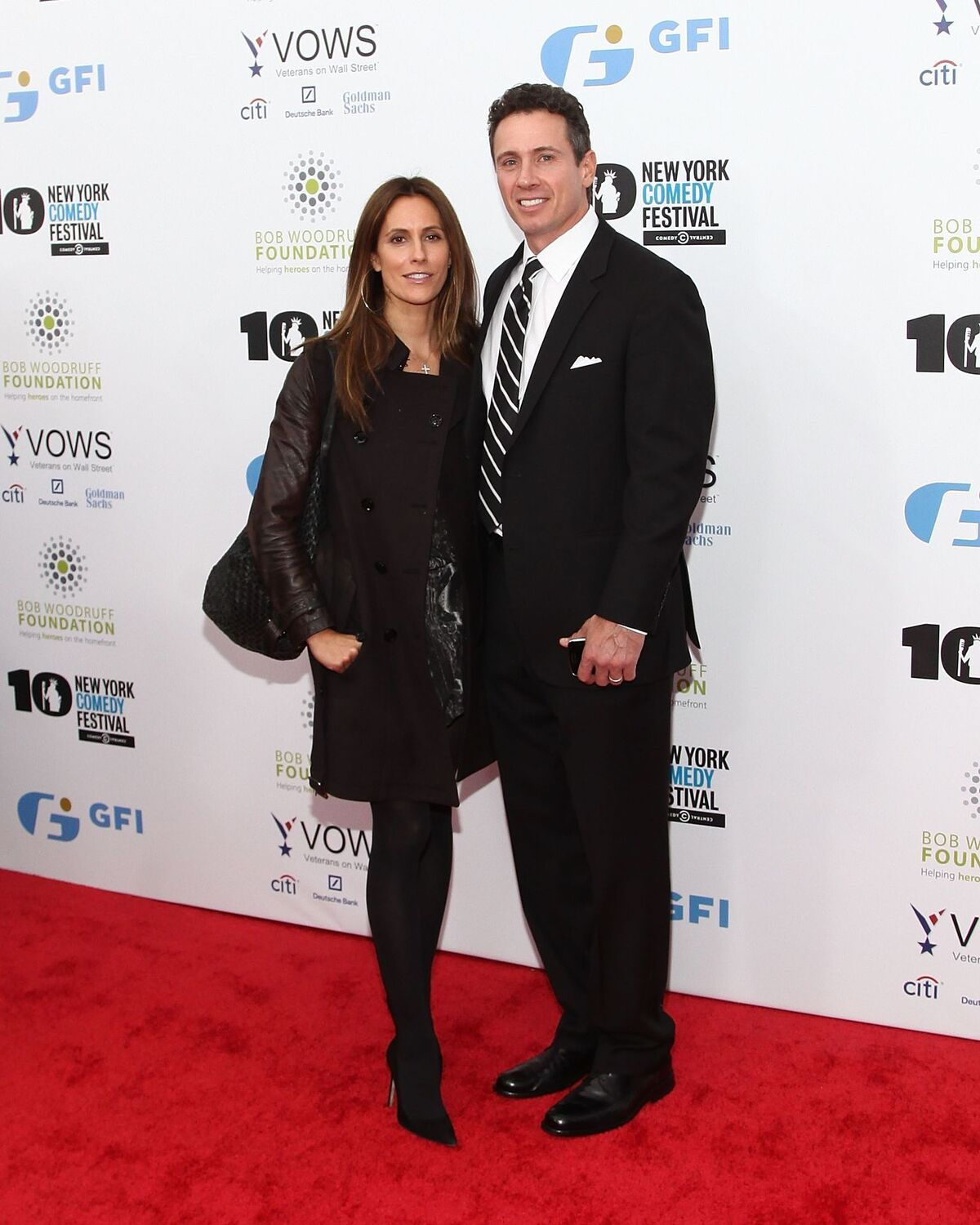 """Cristina and Chris Cuomo at the 7th annual """"Stand Up for Heroes"""" benefit on November 6, 2013, in New York City 