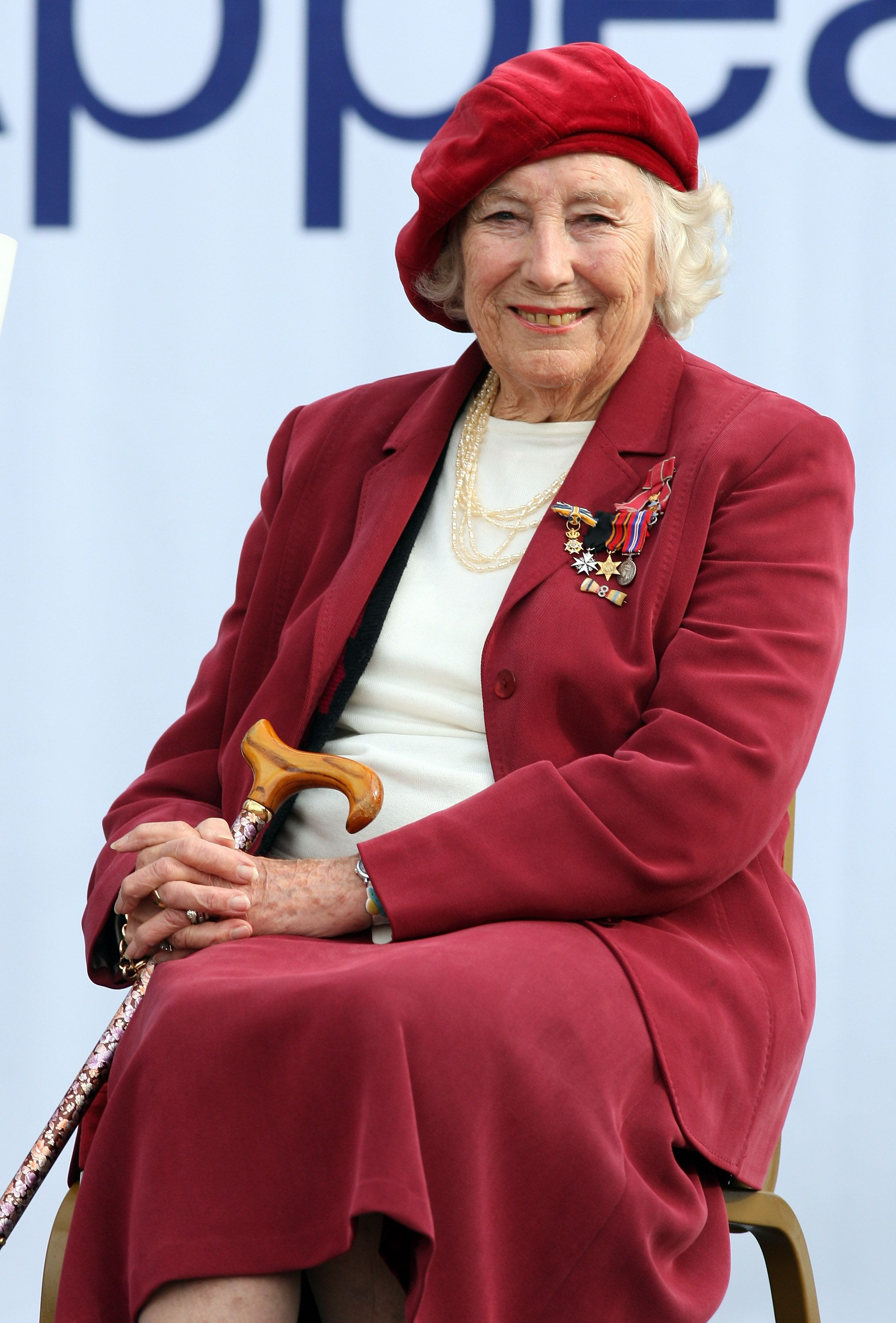 Dame Vera Lynn attends the Poppy Appeal For Afghan Generation launch on October 22, 2009 in London, England.   Source: Getty Images