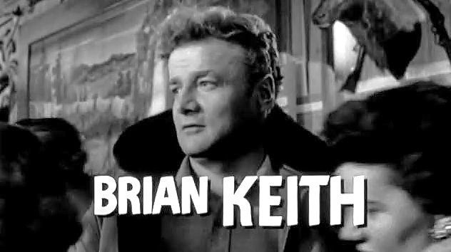 """Brian Keith in the trailer of """"5 Against the House"""" in 1955 