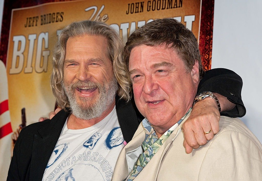 "Jeff Bridges and John Goodman attend ""The Big Lebowski"" Blu-ray release at the Hammerstein Ballroom on August 16, 2011 