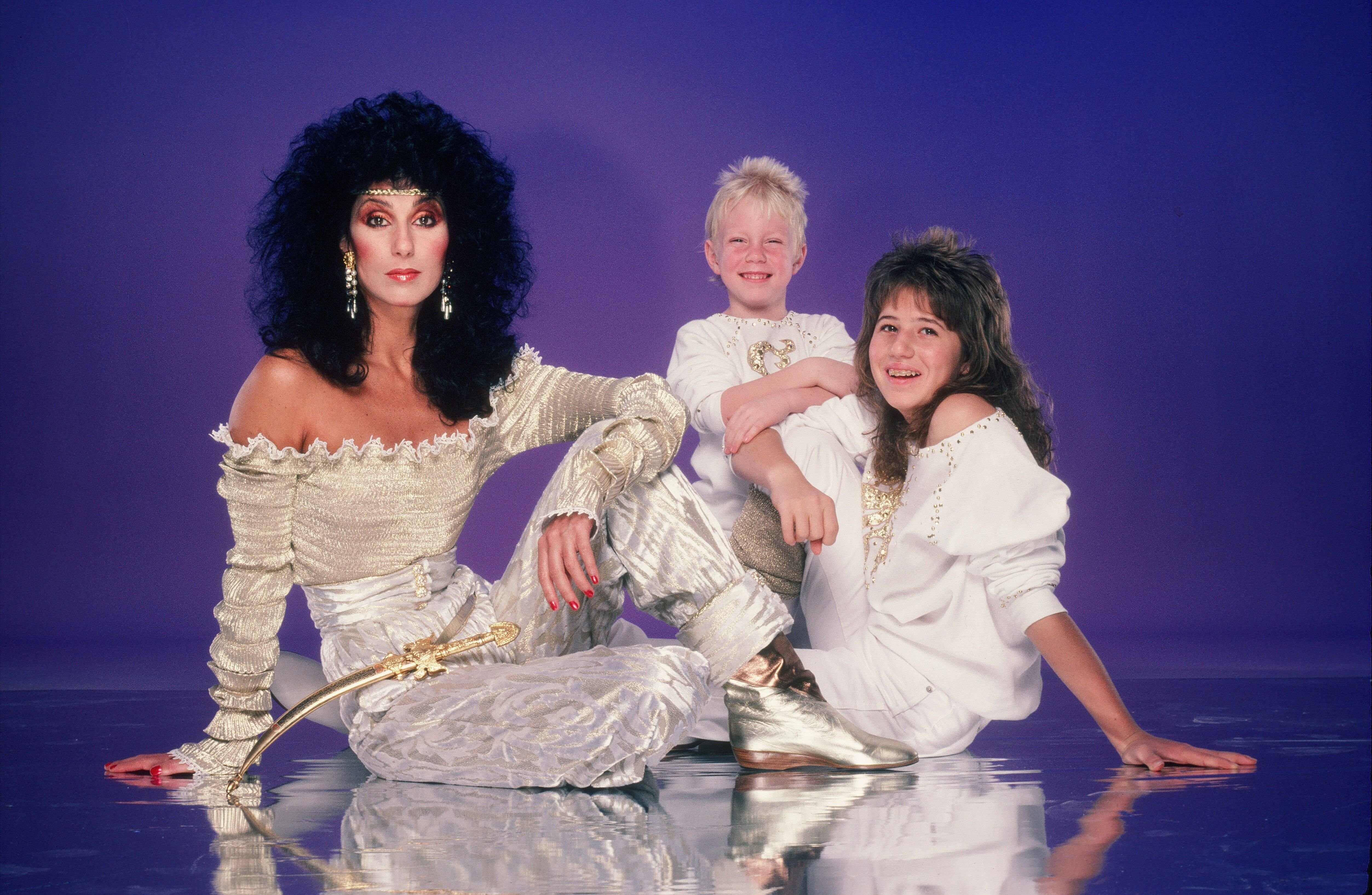 Cher, Chastity Bono (Chaz Bono) and Elijah Blue Allman in 1981 in Los Angeles, California | Source: Getty Images