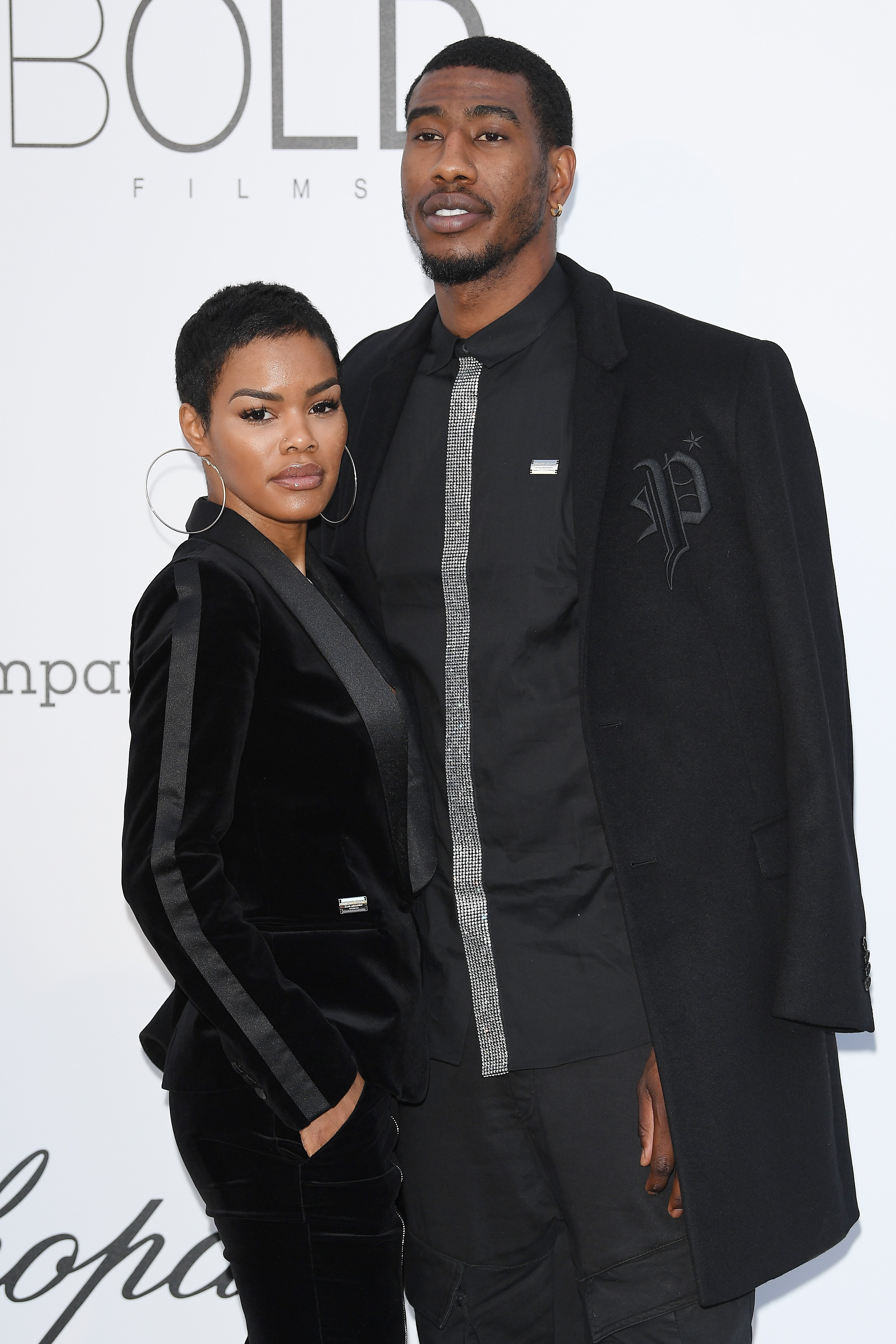 Teyana Taylor and Iman Shumpert at Hotel du Cap-Eden-Roc on May 17, 2018 in Cap d'Antibes, France   Photo: Getty Images
