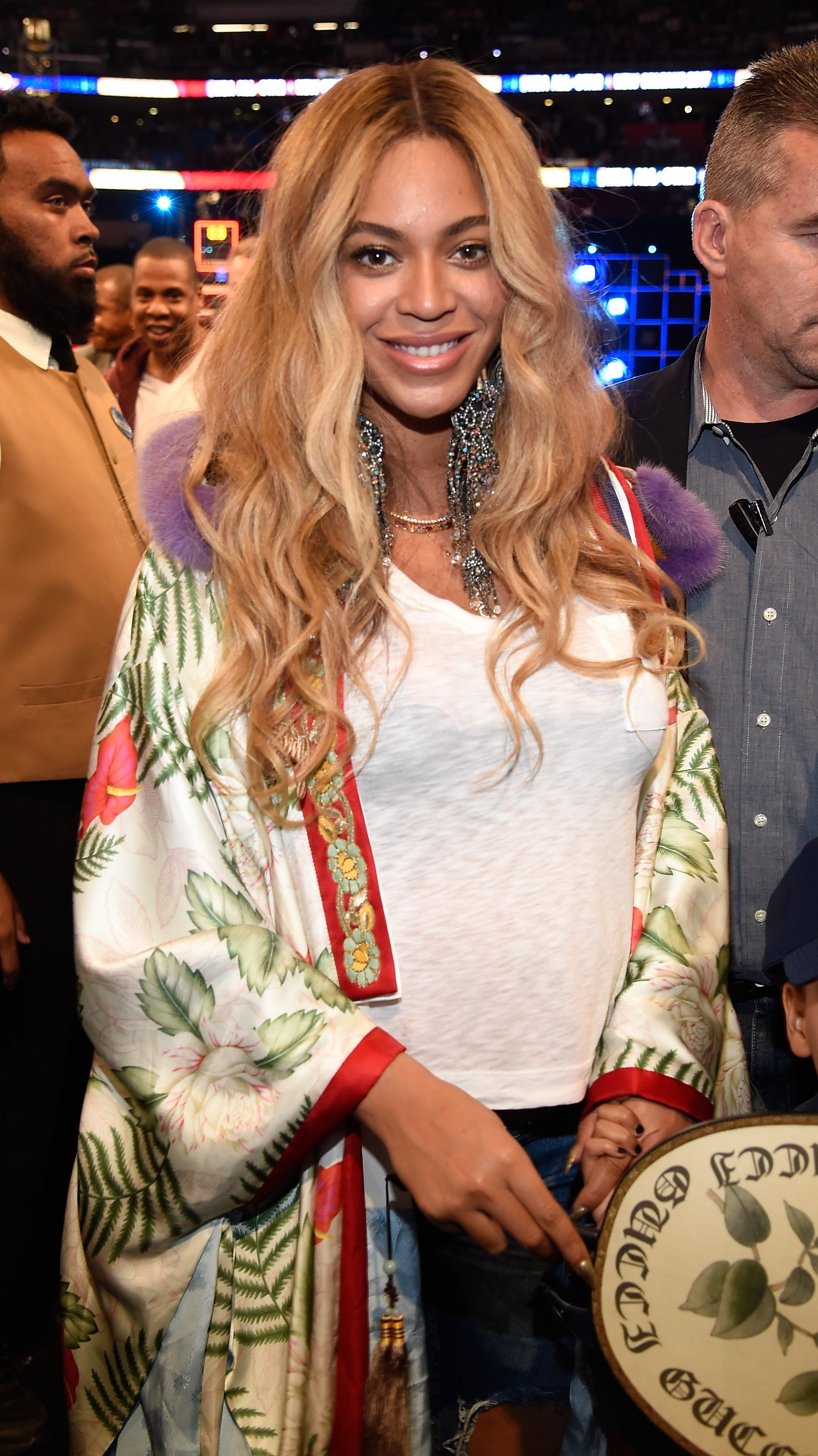 Beyonce at an NBA All-Star game in February 2019. | Photo: Getty Images