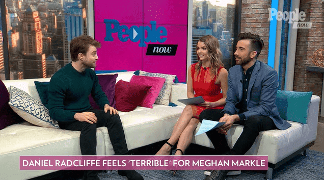 Actor Daniel Radcliffe addressing Meghan Markle's struggle with the British Media on People Now, on December 6, 2019. | Photo: People Magazine