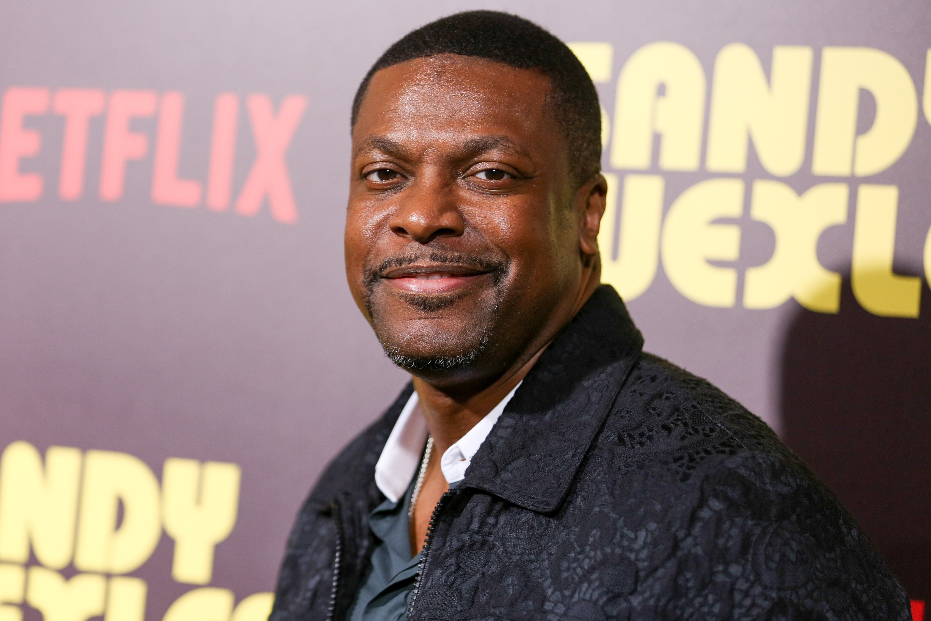 """Actor Chris Tucker attends the premiere of Netflix's """"Sandy Wexler"""" at the ArcLight Cinemas Cinerama Dome on April 6, 2017. 