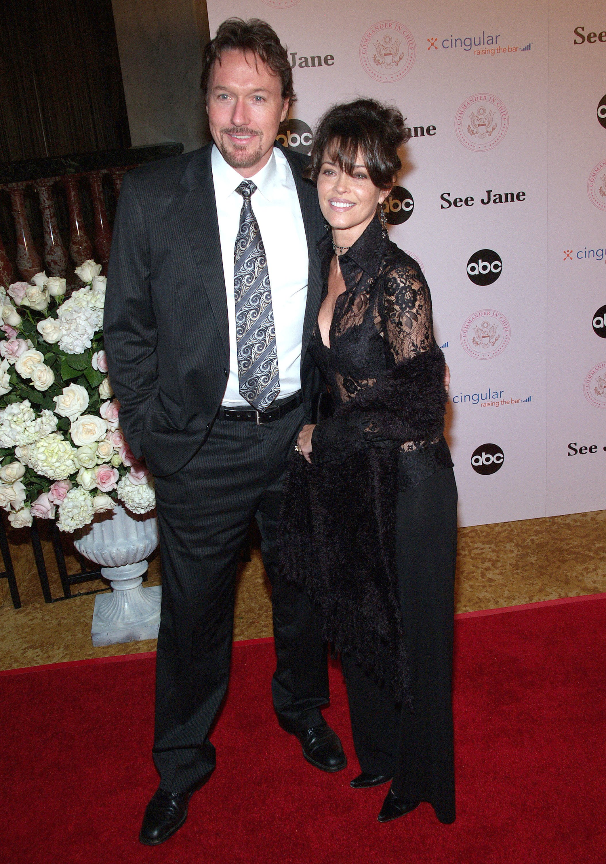 """Thomas Griffith and Mary Page Keller during """"Commander-in-Chief"""" Inaugural Ball and Premiere Screening on September 21, 2005 