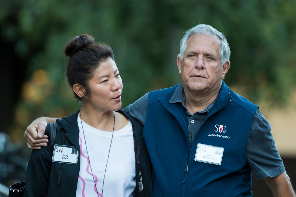 Julie Chen and Leslie 'Les' Moonves, at the annual Allen & Company Sun Valley Conference, July 11, 2018 | Photo: Getty Images