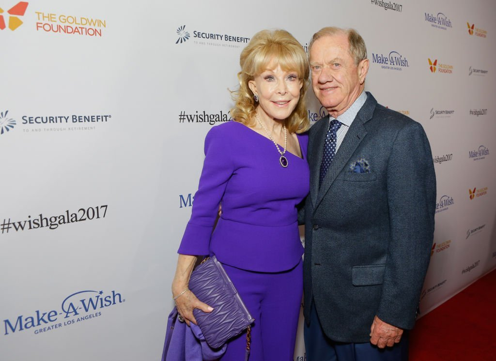 Actress Barbara Eden and Jon Eicholtz at the 2017 Make a Wish Gala on November 9, 2017. | Source: Getty Images