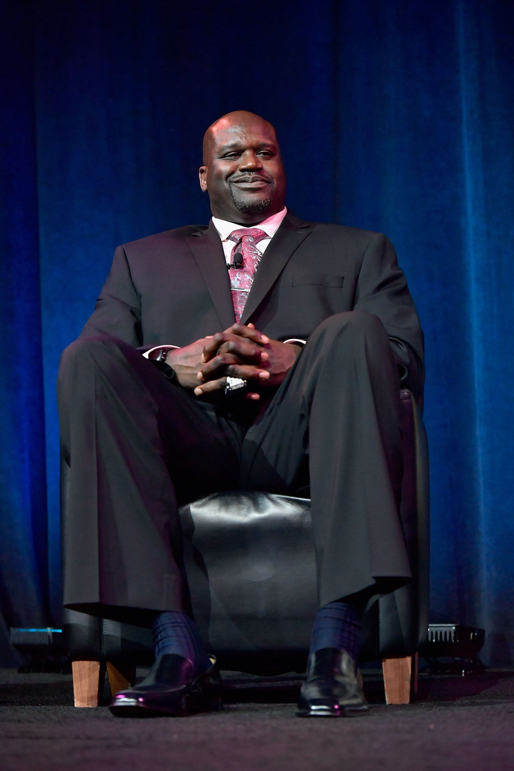 Shaquille O'Neal receives the Basketball Legacy Award at the 15th Annual Sports Museum Tradition Awards Ceremony at TD Garden on November 29, 2016 in Boston, Massachusetts.   Source: Getty Images