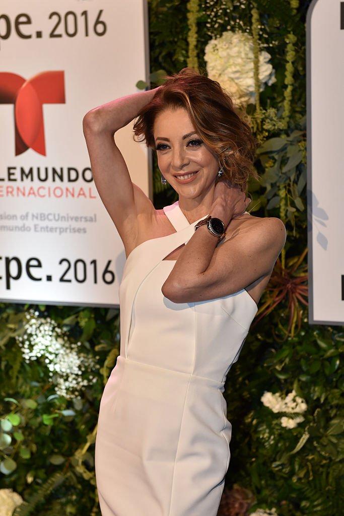 Edith González en la fiesta de Telemundo NATPE el 19 de enero de 2016 en Miami Beach, Florida. | Imagen: Getty Images