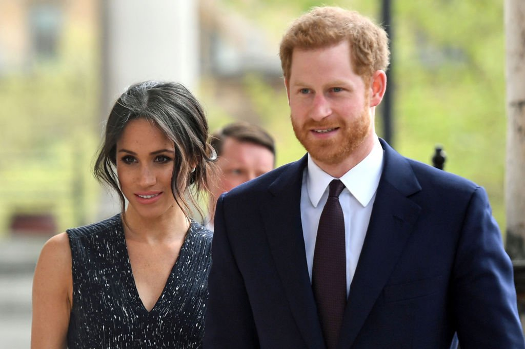 Prince Harry and Meghan Markle attend a memorial service at St Martin-in-the-Fields in Trafalgar Square in London, on April 23, 2018. | Source: Getty Images