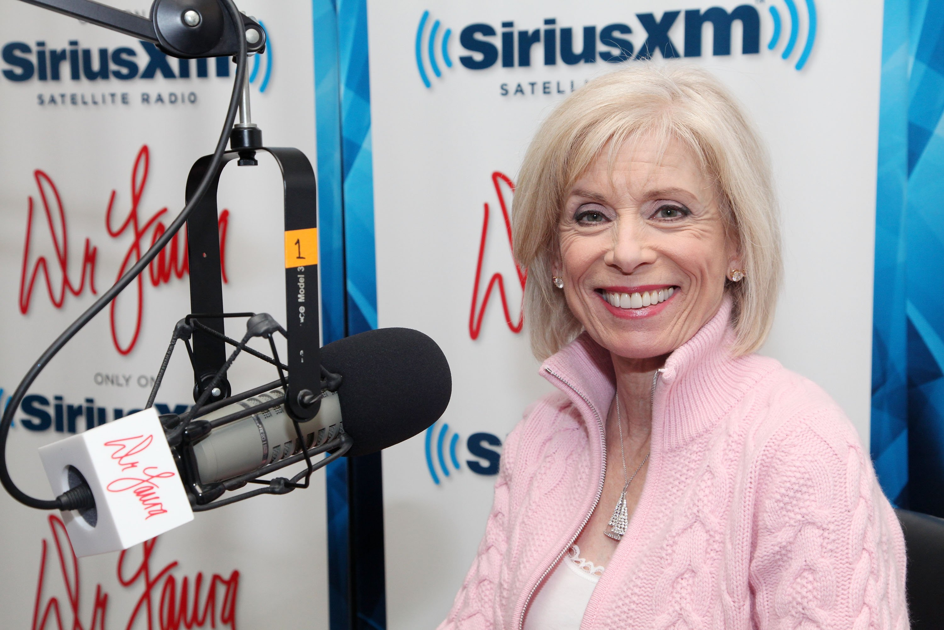 "Dr. Laura Schlessinger broadcasts her exclusive SiriusXM show ""Dr. Laura"" from SiriusXM studios on January 20, 2011, in New York City. 