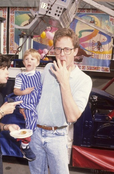Harry Anderson and son Dashiell Anderson at the premiere of 'Oliver and Company' on November 6, 1988   Photo: Getty Images