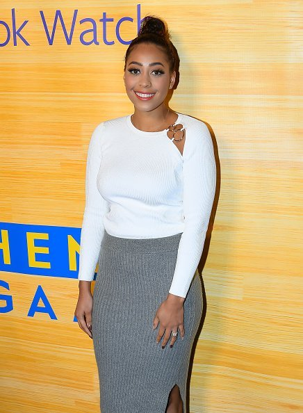 """Sydel Curry at the """"Stephen Vs The Game"""" Facebook Watch Preview in Oakland, California.