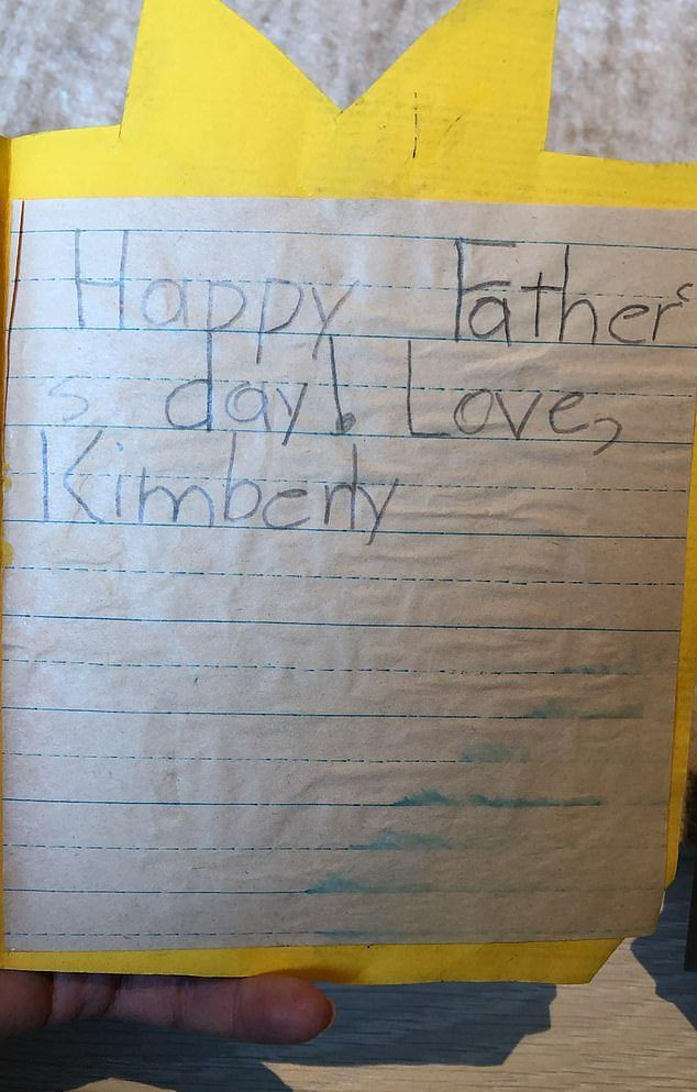 Card sent by Kim Kardashian to her father/ Source: Instagram/ Kim Kardashian