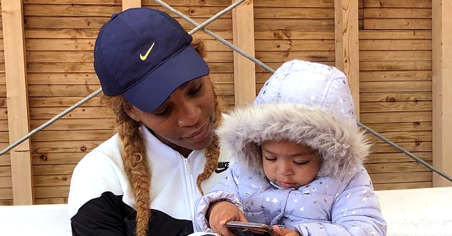 Serena Williams Has Adorable Mommy-Daughter Stretching Session with Little Olympia & Her Doll Qai Qai