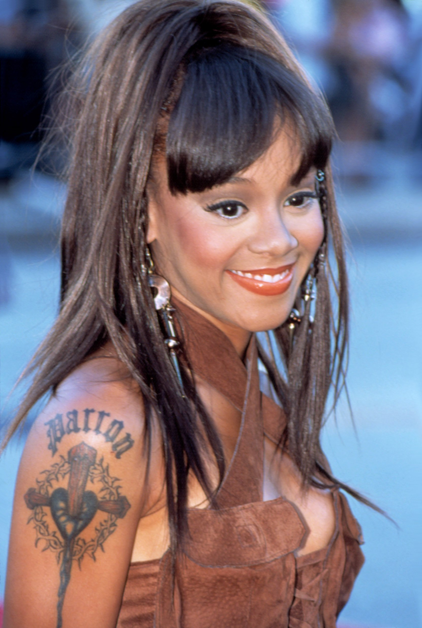Lisa Left Eye Lopes, of TLC, at the Source Awards, 1999. | Source: Shutterstock