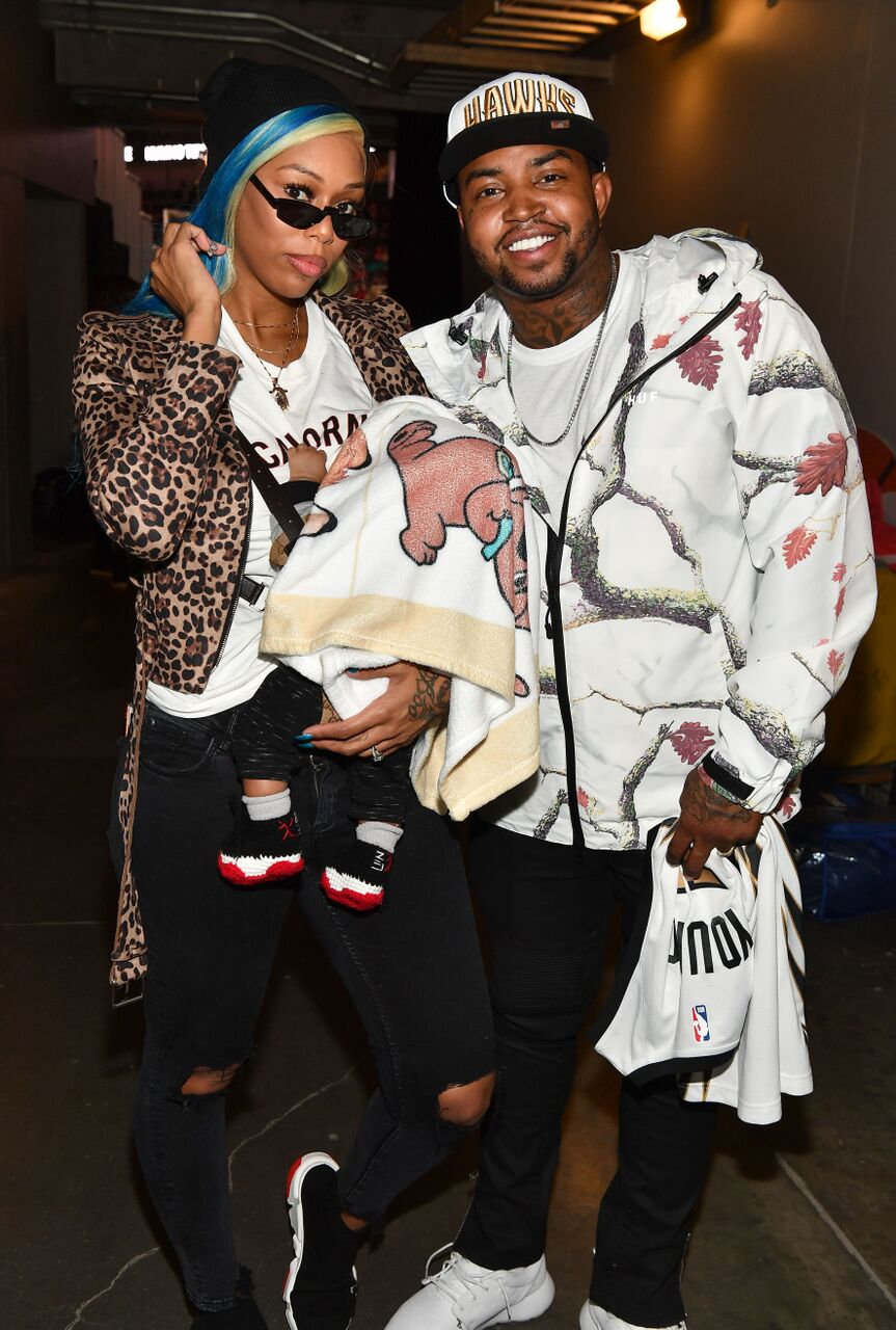 Lil Scrappy, his wife Bambi and their newborn don, Breland/ Source: Getty Images