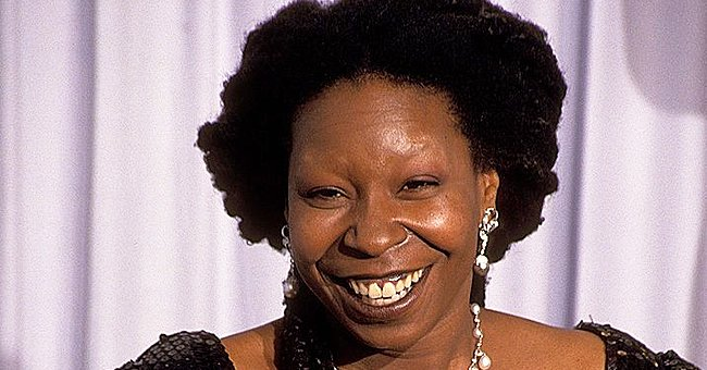 Whoopi Goldberg Poses In a Black Layered Dress & Huge Jewelry in Honor of Her 1991 Oscar (Photos)