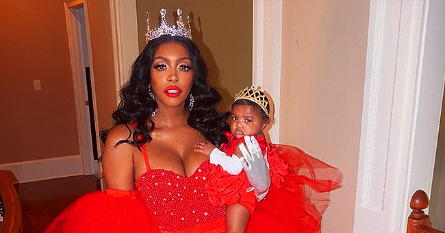 Porsha Williams of RHOA and Daughter Pilar Jhena Rock Red Gowns & Tiaras in a Gorgeous New Photo