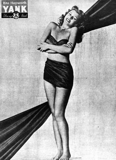 Pin-up photo of Rita Hayworth for the 1944 issue of Yank, the Army Weekly | Photo: Wikimedia