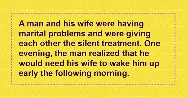 Husband leaves note for wife asking her to wake him up and finds ingenious reply the next morning