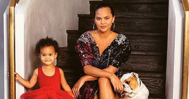 Chrissy Teigen Looks like Daughter Luna in Throwback Photo of the Model and Her Mom